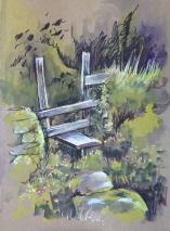 ArtByElise Pen & wash landscape for website