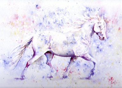 Brusho horse (trotting through the snowstorm) edited for website