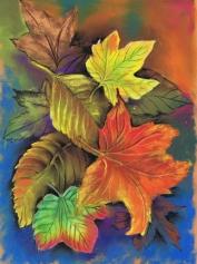 Pastel autimn leaves for website